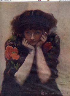 Portrait of a gypsy. Retrato de una gitana. Cecilio Pla. He is considered a master at painting women.