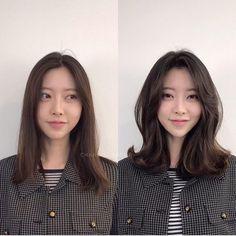 • hair만으로도 다른사람이~? 헤어스타일 전/후 : 네이버 블로그 Korean Hairstyles Women, Redhead Hairstyles, My Hairstyle, Permed Hairstyles, Japanese Hairstyles, Asian Hairstyles, Korean Wavy Hair, Korean Medium Hair, Hair Korean Style
