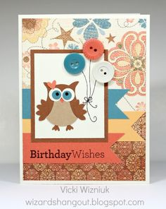 Wizard's Hangout - Clementine Owl Card