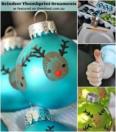 Kerstbal versieren met duimafdruk