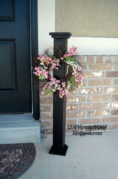 3 ft tall diy signpost for wreath or hanging welcome sign