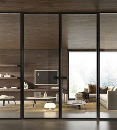 Sliding door / glass BiSystem: Mod. BiGlass GAROFOLI