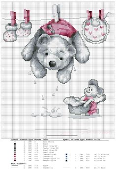 Birth sampler Bear Laundry for boy or girl (Vervaco) Baby Cross Stitch Patterns, Cross Stitch For Kids, Cute Cross Stitch, Cross Stitch Animals, Cross Stitch Charts, Cross Stitch Designs, Cross Stitching, Cross Stitch Embroidery, Baby Motiv