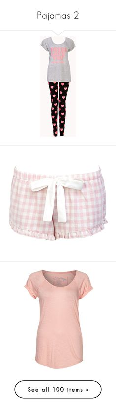 """""""Pajamas 2"""" by mcmarissa68 ❤ liked on Polyvore featuring intimates, sleepwear, pajamas, pijamas, pyjamas, short pajama set, forever 21 pajamas, short pajamas, forever 21 sleepwear and forever 21 pjs"""
