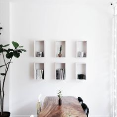 DIY simple frame shelving for an expensive look (as long as what you display in them is well-chosen!)