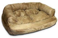 Snoozer Overstuffed Luxury Pet Sofa, X-Large, Dark Chocolate