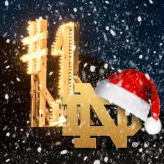 Notre Dame #1 at Christmas!!!