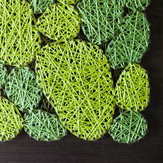 Vypletané machy 40 x 40 Moss Art, Herbs, Plants, How To Make, Herb, Planters, Plant, Spice, Planting