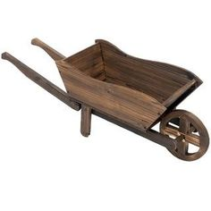 Outsunny Raised Flower Bed Wheelbarrow Vegetable Herb Grow Box, Brown(Wood), Outdoor Décor Go Wheelbarrow Planter, Planter Boxes, Bed Furniture, Garden Furniture, Garden Lighting Effects, Home Flower Arrangements, Raised Flower Beds, Grow Boxes, Garden Landscape Design