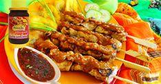 Surinaams eten – Javaanse saté met gebakken banaan en pinda sambel