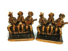 Cowboy Serenade Bronze Bookends by Ray E Dodge by melmacparadise, $175.00