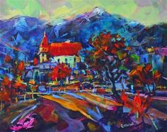 """Rossland"" - Original Fine Art for Sale - © Eunmi Conacher House Art, Paint Designs, Fine Art Gallery, Art For Sale, Eye Candy, Abstract Art, Strong, Paintings, Artists"