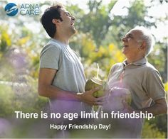Wishing you all a Happy Friendship Day! There is no age limit in friendship. Happy Friendship Day, International Day, Indian Festivals, Health Care, Calendar, Events, Age, Baseball Cards, Quotes