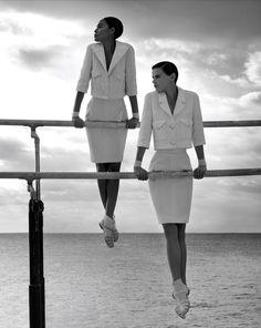 lelaid: Joan Smalls & Saskia de Brauw by Karl Lagerfeld for. lelaid: Joan Smalls & Saskia de B Joan Smalls, Image Fashion, Foto Fashion, Fashion Beauty, Karl Lagerfeld, Chanel Campaign, Editorial Photography, Fashion Photography, Karl Otto