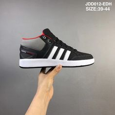 wholesale dealer cfa90 b4965 Adidas Cf All Court Mid Core Black White Medium Grey Red Original 2018 Shoe