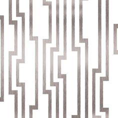 """DE8816 - """"Velocity"""" Metallic Silver & White Geometric Wallpaper Pattern from Shimmering Details. Part of Candice Olson Designer Series. $75.99 per single roll. Free Shipping"""
