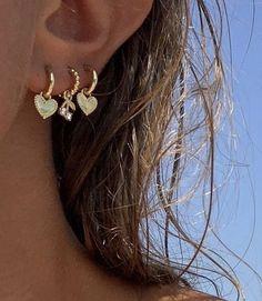 Ear Jewelry, Cute Jewelry, Jewelry Accessories, Hipster Accessories, Summer Accessories, Fashion Accessories, Piercings Bonitos, Cute Ear Piercings, Tongue Piercings