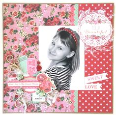 Tropical Punch Collection : Hello Beautiful Layout by Amanda Baldwin Scrapbooking Layouts, Scrapbook Pages, General Crafts, Hello Beautiful, Finding Joy, Clear Stamps, Your Cards, Punch, Card Stock