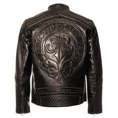 Affliction Men's American Custom Lemmy Leather Jacket - Black, X-Large