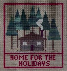 Christmas Cozy Cottage Free Pattern by Janet M Perry onNuts about Needlepoint