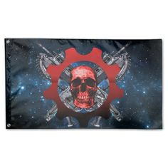 Gears Of War The Lancer Logo Outdoor/indoor Home House Garden Flags 3' X 5' * See this awesome image  : home diy garden