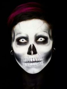 Skull painted face