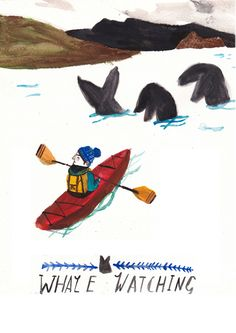 Whale Watching by Dick Vincent Illustrations