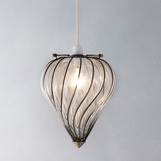 NEW ANTIQUE STYLE JOHN LEWIS VERITY EASY FIT GLASS CEILING LIGHT SHADE