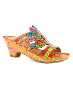 Look what I found on #zulily! Orange & Yellow Amber Bonsai Sandal #zulilyfinds