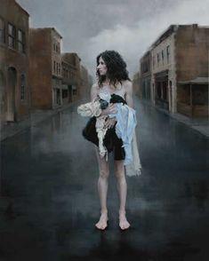 Dirty Laundry byKatie O'Hagan oil on canvas