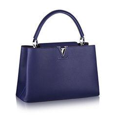 Louis Vuitton M94665 Capucines MM Bag Indigo