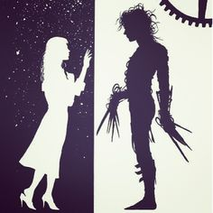 Edward Scissorhands silhouettes