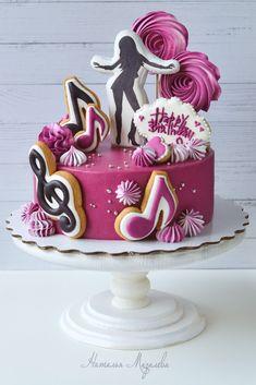 Dance Birthday Cake, Funny Birthday Cakes, 18th Birthday Cake, Birthday Parties, Disco Cake, Winter Wonderland Cake, Movie Cakes, Golden Birthday, Girl Cakes