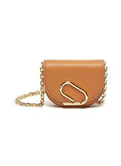 $340.0. 3.1 PHILLIP LIM Crossbody Bag 'Alix' Metal Paperclip Detail Leather Mini Crossbody Bag #31philliplim #crossbodybag #bags Mini Crossbody Bag, Paper Clip, 3.1 Phillip Lim, Metal Chain, Satchel, Belt, Detail, Leather, Belts