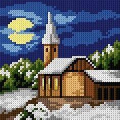 Schemat Cztery pory roku - zima Cross Stitch House, Cross Stitch Pillow, Cross Stitch Kitchen, Beaded Cross Stitch, Cross Stitch Art, Cross Stitch Borders, Cross Stitch Designs, Cross Stitching, Cross Stitch Embroidery