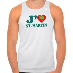 J'aime St. Martin w/ Palm Tree Workout Tank Top. #Caribbean #Jamaica #ILoveJamaica #Fitness #Athlete #CaribLoveDesigns #Zazzle