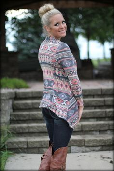 All Caught Up Aztec Sweater - Filly Flair Filly Flair, Aztec Sweater, Style Me, Cute Outfits, Couture, Boutique, Clothes For Women, Casual, Sweaters