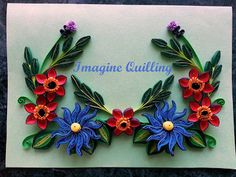 Imagine Quilling: Blue and Red Birthday Card