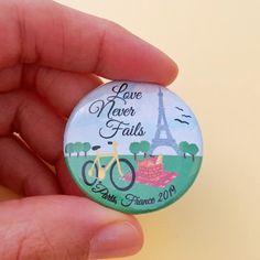 Paris France Love Never Fails Convention Pins JW Pins France Love, Paris France, Caleb Et Sophia, Jw Convention, Jw Gifts, Love Never Fails, Louvre, Vacation, Etsy