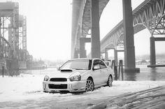 Aspen White   Subaru Impreza WRX   Boxer Engine   Ej205