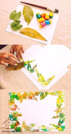 Printmaking crafts for kids Exploring different patterns and marks made using toilet and kitchen rolls that have been squashed, cut and wrapped in string . Autumn Crafts, Fall Crafts For Kids, Autumn Art, Nature Crafts, Art For Kids, Autumn Activities, Art Activities, Art N Craft, Diy Art