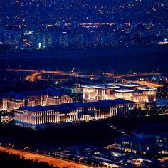 AERIAL  VİEW  OF  PRESİDENTİAL  PALACE -BEŞTEPE- ATATÜRK ORMAN ÇİFTLİĞİ - ANKARA  /  TURKEY