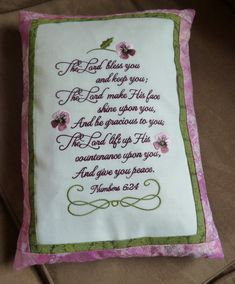 Place this meaningful scripture on pillows, wallhangings, stitch it as a center for a quilt or get it framed. Recommendations for proper preparation of fabric are included with your download, as is a color chart in jpg format. You are also receiving a separate basting frame design to fit 6x10 hoops.