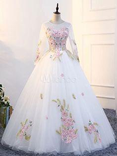 In Stock 2018 Quinceanera Dresses, Quince Dresses, 15 Dresses,Sweet 16 Dresses Party Wear Dresses, Ball Dresses, 15 Dresses, Pageant Dresses, Pretty Dresses, Bridal Dresses, Ball Gowns, White Quinceanera Dresses, Robes Quinceanera