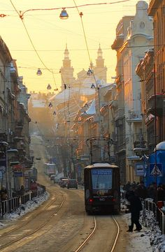 A day in the city of Lviv, Ukraine.