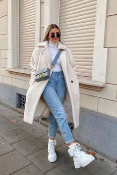 Casual Winter Outfits, Winter Fashion Outfits, Classy Outfits, Look Fashion, Stylish Outfits, Fall Outfits, Winter College Fashion, Comfortable Winter Outfits, Cold Weather Outfits
