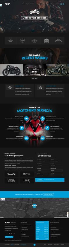 MotoHero is modern and perfect #WordPress theme for #motorbike #services and store website download now➝ https://themeforest.net/item/motohero-motorcycle-repair-custom-service-business-theme/15803039?ref=Datasata