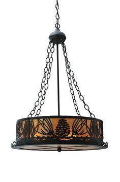 "Meyda 29268 - 22""W Mountain Pine Inverted Pendant Light"
