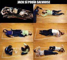 Esa Rose es toda una loquilla, se podía salvar Jack, era cosa que hacer espacio nomas.