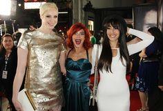 Gwendoline Christie, Natalie Tena and Oona Chaplin, from GoT